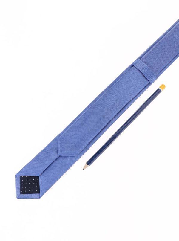 Modrá hodvábna slim kravata Selected Homme Plain