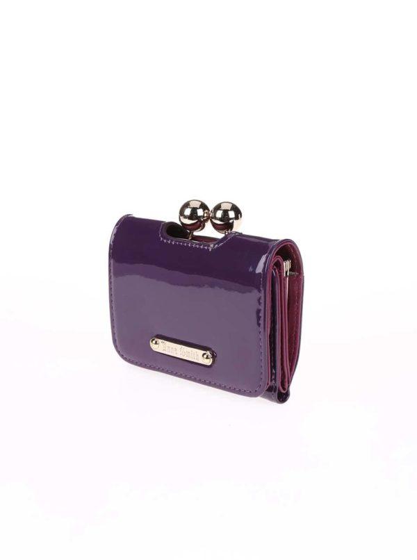 Fialová lesklá peňaženka Anna Smith