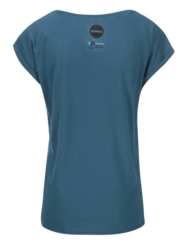 """""""Dobré"""" petrolejové dámske tričko pre OPU a UNHCR"""