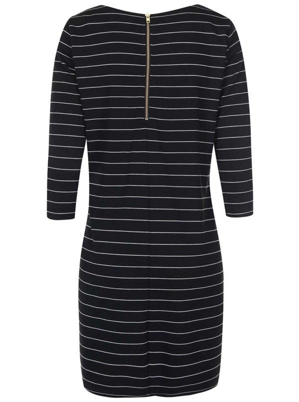 Čierne pruhované šaty VILA Tinna