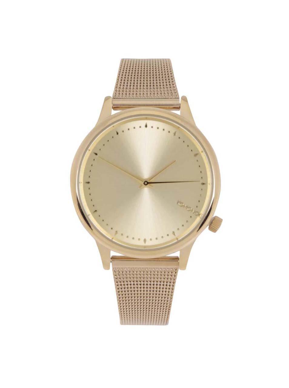 Dámske hodinky v zlatej farbe s kovovým remienkom Komono Estelle Royale 630fd7e8753