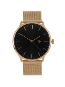 Unisex hodinky v zlatej farbe s nerezovým remienkom CHPO Nando Gold