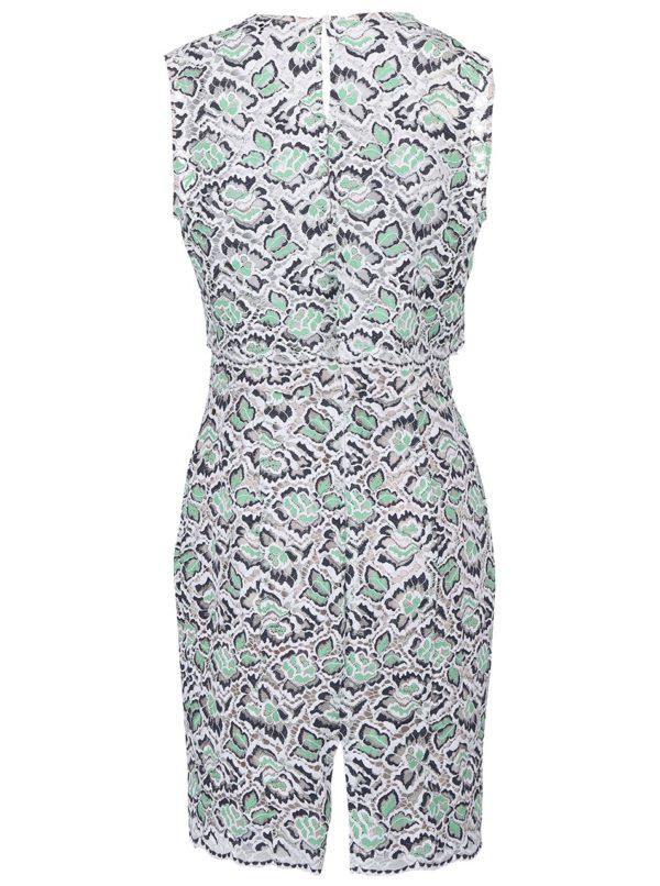 Bielo-zelené čipkované šaty French Connection Boccara