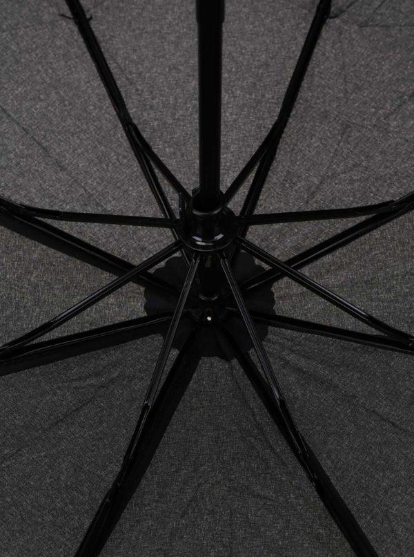Čierny skladací dáždnik s.Oliver