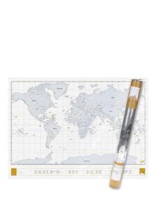 Veľká nástenná stieracia mapa sveta Luckies Clear Edition