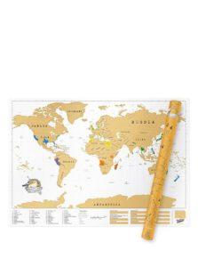 Veľká nástenná stieracia mapa Luckies XL Edition