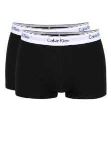 Súprava dvoch boxeriek v čiernej farbe Calvin Klein