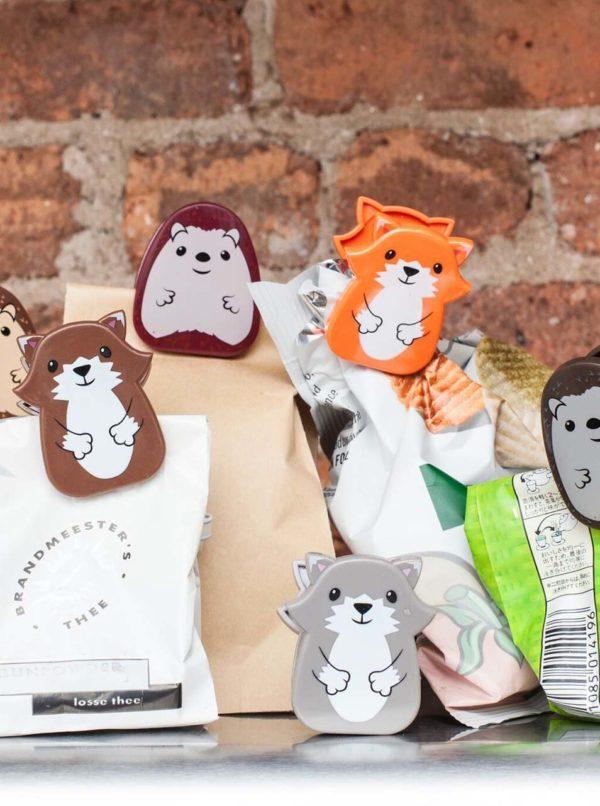 Kolekcia šiestich zvieracích štipcov na vrecká Kikkerland