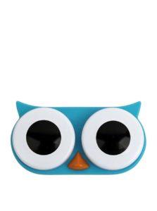 Modré puzdro na kontaktné šošovky Kikkerland Owl