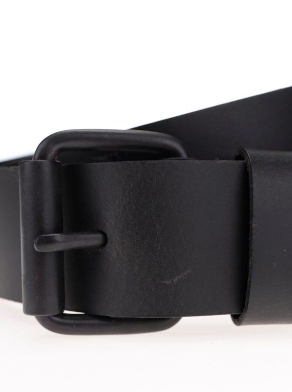 Čierny pánsky kožený opasok so vzorom Pepe Jeans Hammond