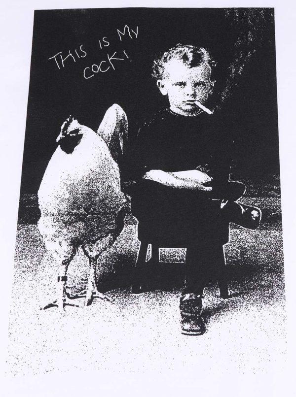 Biele pánske tričko ZOOT Originál This Is My Cock