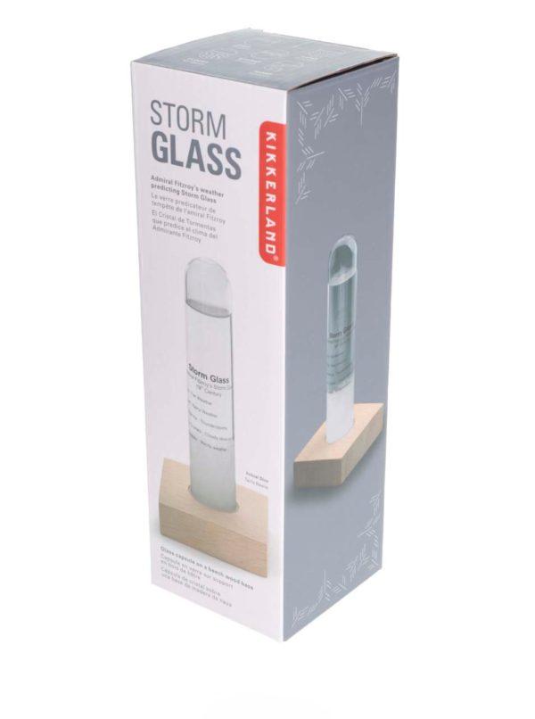Búrkový pohár s dreveným podstavcom Kikkerland