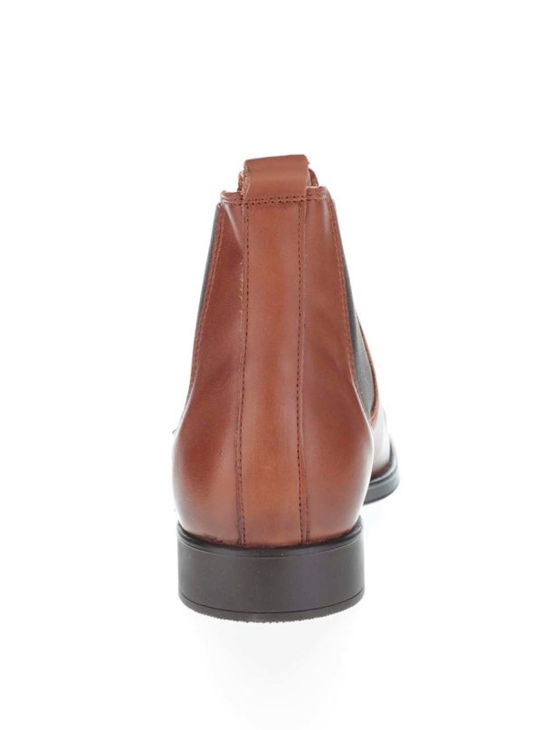 Hnedé kožené chelsea topánky Selected Homme Oliver