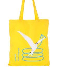 """""""Dobrá"""" žltá plátenná taška pre reSITE"""