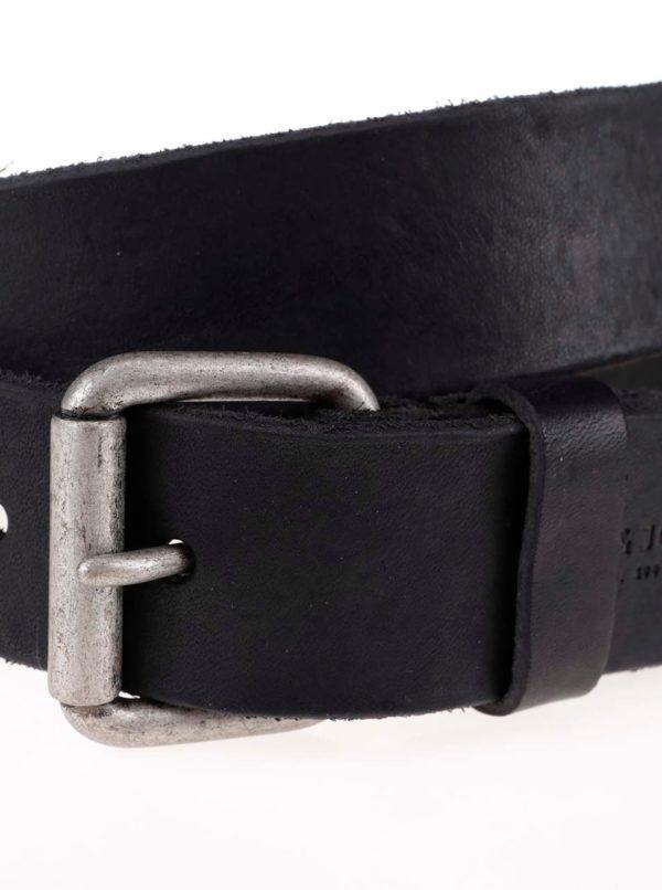 Čierny kožený opasok Jack & Jones Jakob