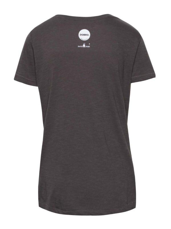 """""""Dobré"""" sivé dámske tričko pre Zažít město jinak"""
