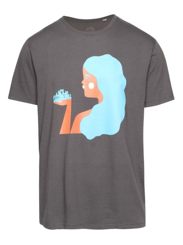 """""""Dobré"""" sivé pánske tričko pre Zažít město jinak"""