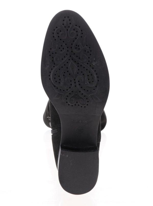 Čierne dámske semišové čižmy Geox Mendi