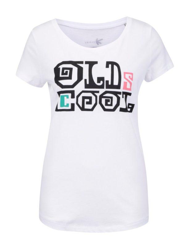 """""""Dobré"""" biele dámske tričko s potlačou Elpida"""