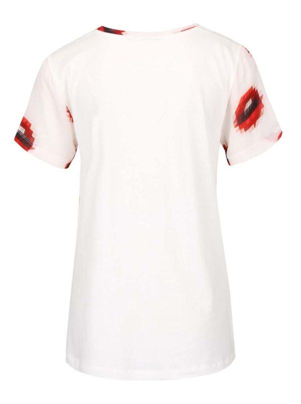 Krémové priesvitné tričko s potlačou pier gsus