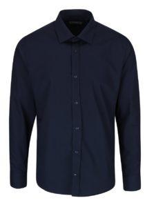 Tmavomodrá formálna košeľa Bertoni Gustav