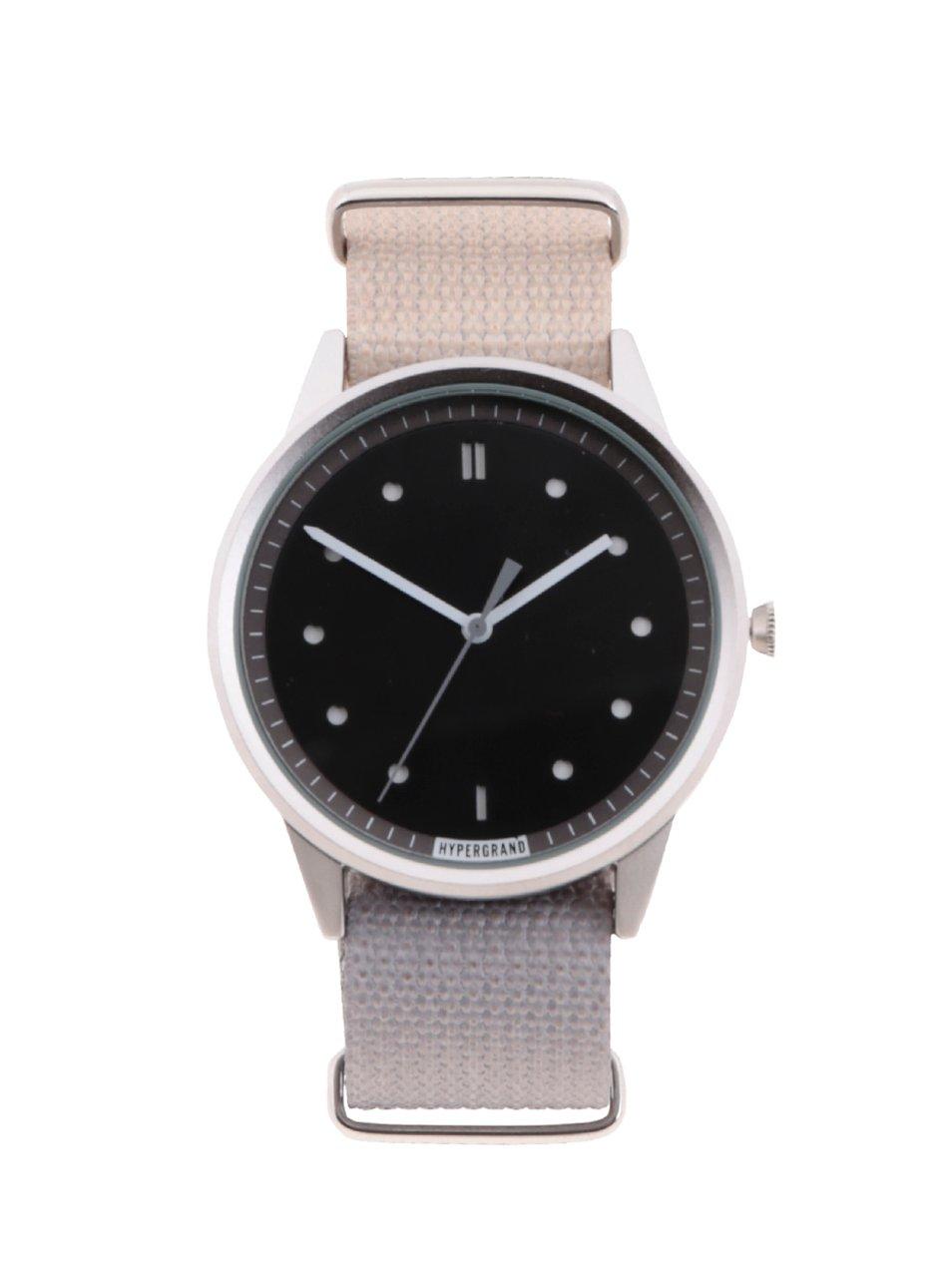 ce7afe24e Pánske hodinky v striebornej farbe s textilným remienkom HYPERGRAND ...
