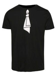 """""""Dobré"""" čierne pánske tričko s potlačou Mamma HELP"""