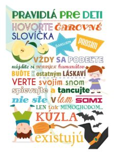 Biely plagát  HEZKÝ SVĚT Pravidlá pre deti