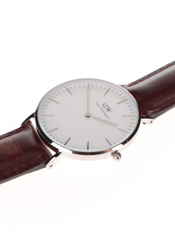 Dámske hodinky v striebornej farbe CLASSIC Bristol Daniel Wellington ... a52ee0e12ca