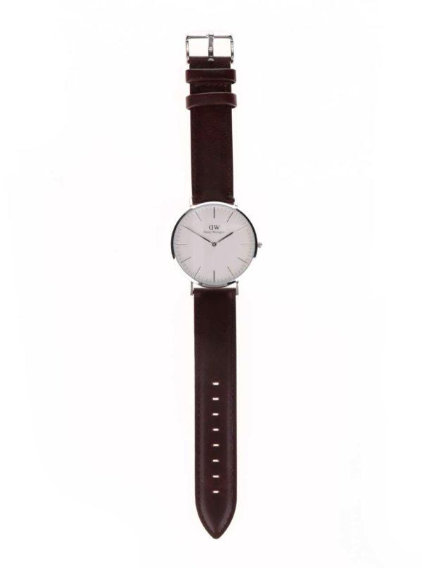 Pánske hodinky v striebornej farbe CLASSIC Bristol Daniel Wellington ... 8021a9b1656