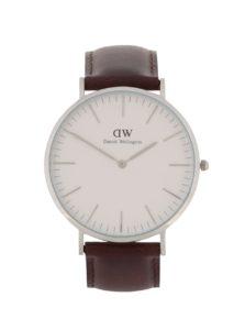 Pánske hodinky v striebornej farbe CLASSIC Bristol Daniel Wellington