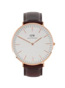 Pánske hodinky v zlatej farbe CLASSIC Bristol Daniel Wellington