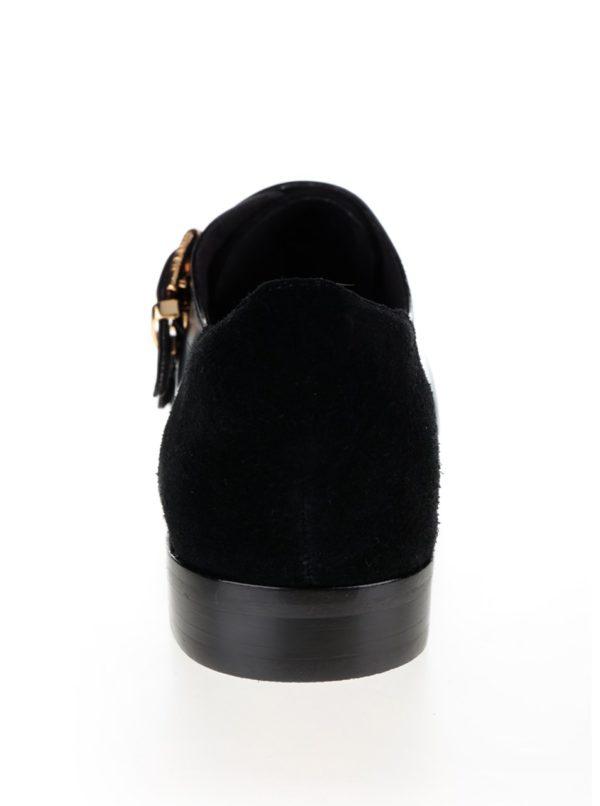 Čierne kožené poltopánky Ted Baker Naoi