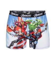 Modré boxerky s motívom superhrdinov Avengers