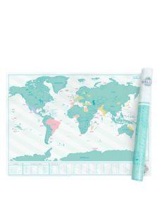 Veľká nástenná stieracia mapa Luckies Hello Edition