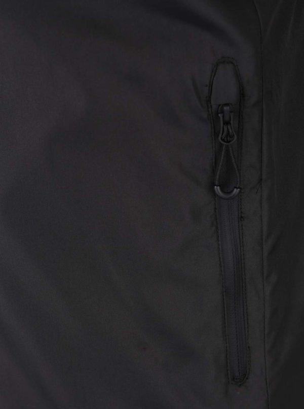 Čierna bunda s golierom Jack & Jones Lift