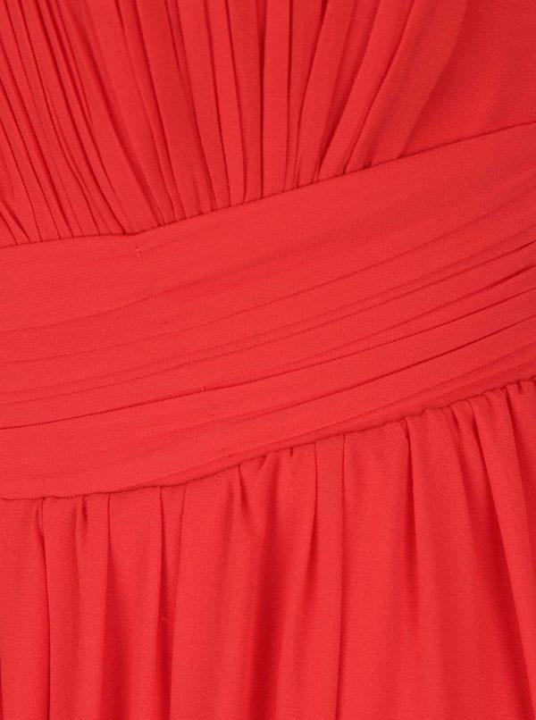 Červené maxišaty s prestrihom v dekolte Little Mistress