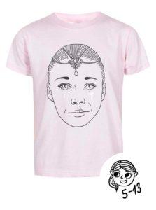 Ružové dievčenské tričko s potlačou ZOOT Kids Císařovna
