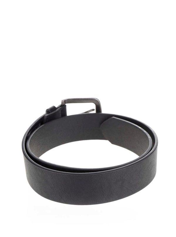 Čierny koženkový opasok ONLY & SONS Cray