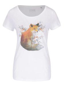 Biele dámske tričko s potlačou ZOOT Originál Líška