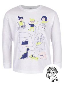 Biele dievčenské tričko s dlhým rukávom ZOOT Kids Hra