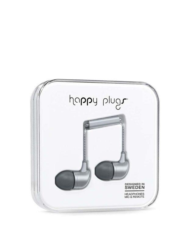 Sivé in-ear saint slúchadlá Happy Plugs