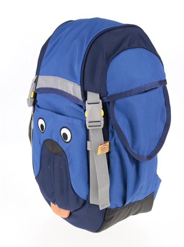 Modrý batoh v tvare psa Affenzahn