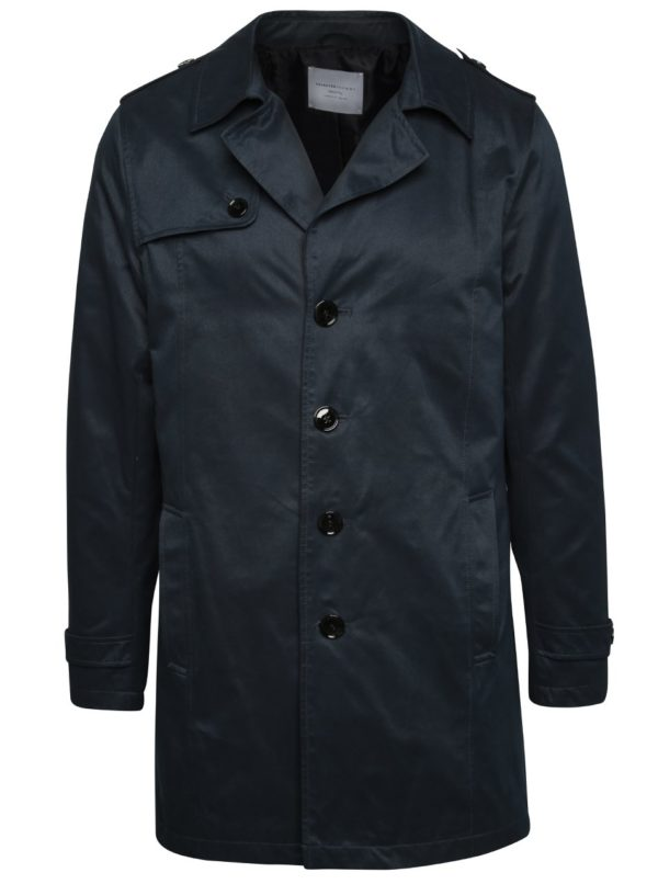 Tmavomodrý kabát Selected Homme New Adams