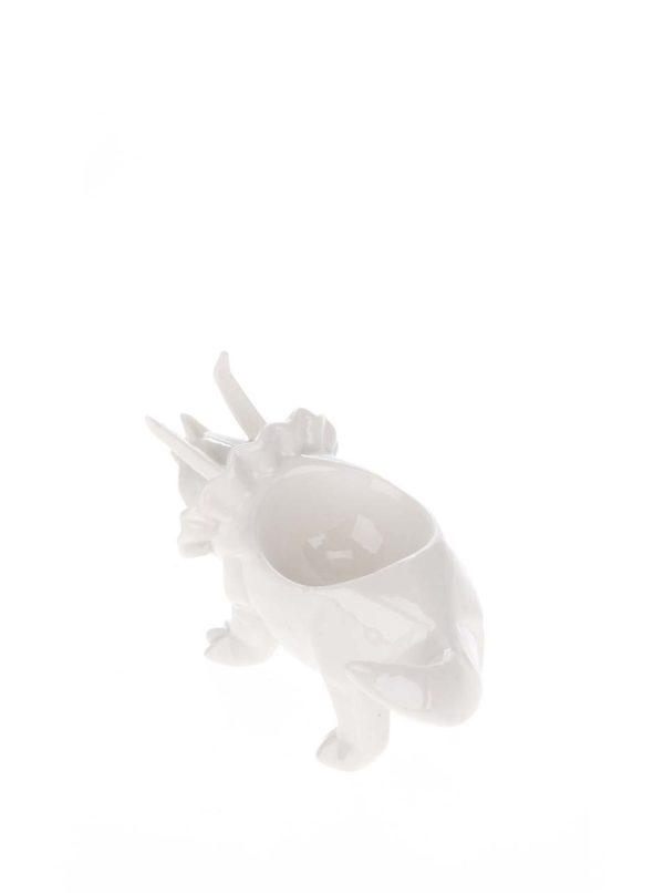 Biely porcelánový kalíšok na vajce Disaster Dinosaurus