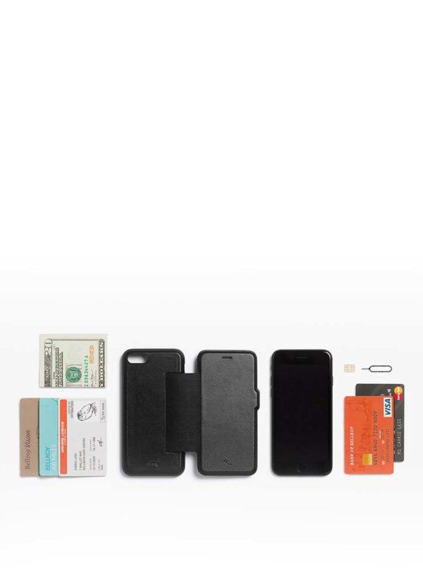 Čierny kožený kryt pre iPhone 7 s priehradkou na platobné karty Bellroy