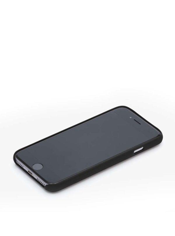 Čierny kožený kryt pre iPhone 7 s priehradkou na platobnú kartu Bellroy