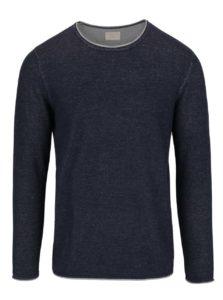 Tmavomodrý ľahký melírovaný sveter Selected Homme Klop