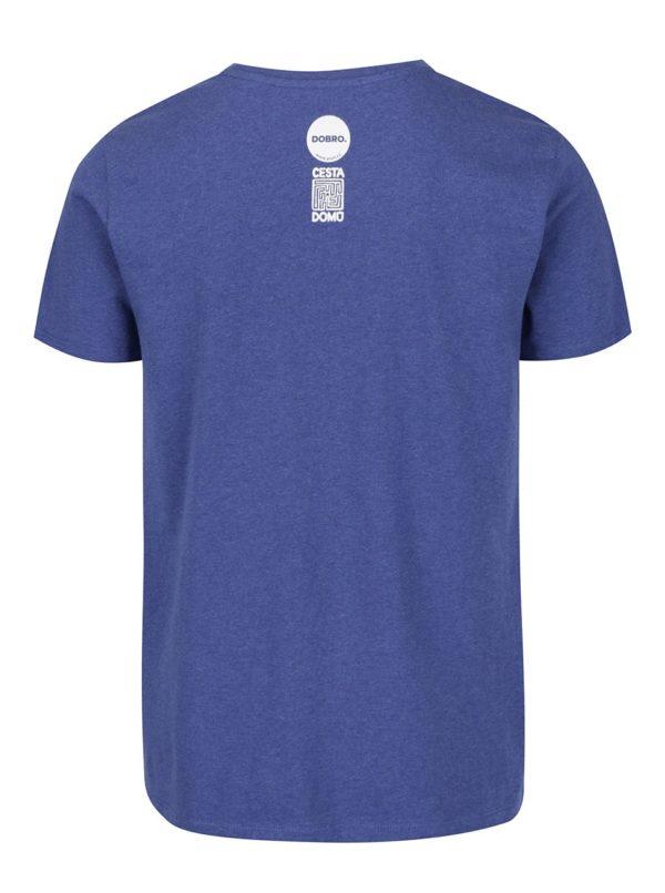 """""""Dobré"""" modré pánske tričko Cesta domov"""