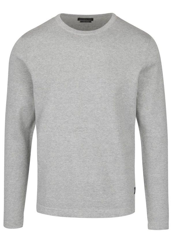 Sivý ľahký sveter Jack & Jones Basic
